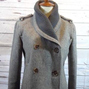J Crew Wool Pea Coat Grey size 0